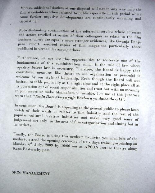 KSCB Press Release--3 July 2009--page 2