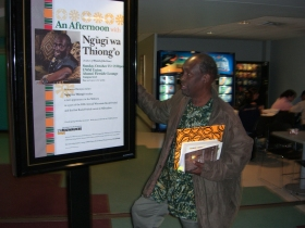 Ngugi wa Thiong'o, Milwaukee, Wisconsin, 15 October 2006 (c) CM