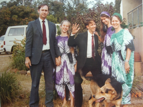 Family photo in Jos in the 1990s, around 1993 or 94.