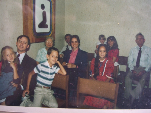 All of our Atlanta-based relatives came to see us off at the airport. Here we are in airport's chapel.