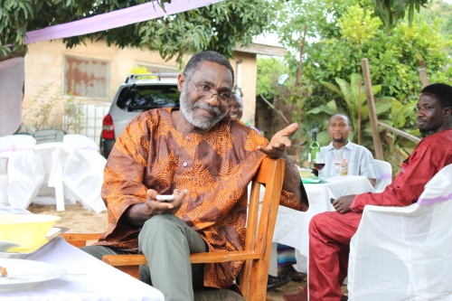 Dul Johnson at his 60th birthday celebration with the Association of Nigerian Authors, Jos Chapter, September 2013. (c) Carmen McCain