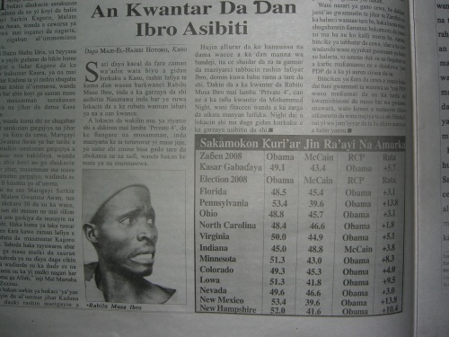 """An Kwantar da Ibro Asabiti"" article published in Leadership Hausa, 17-23 October 2008"