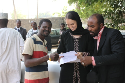 On set of Jidda, Kaduna, January 2010.