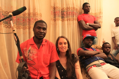 On set of Abbas Sadiq film, Jos, 2012.