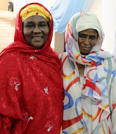 Hausa novelists Balaraba Ramat Yakubu and Hafsat Abdulwaheed at an event celebrating the work of literary critic Ibrahim Malumfashi, Kaduna, December 2012 (c) Carmen McCain
